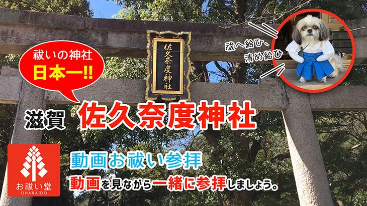お祓い動画参拝「佐久奈度神社」 動画でお祓い!