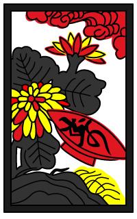 花札 菊と盃